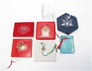Group of Crystal Ornaments and Paperweight