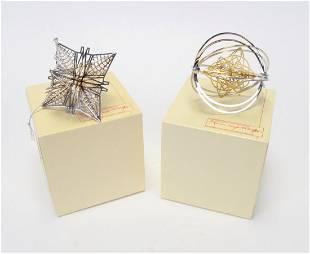 Two Frank Lloyd Wright Ornaments