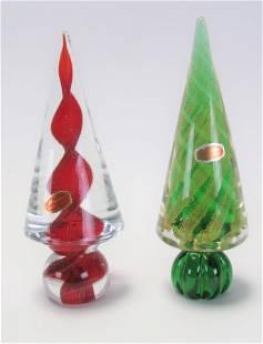 Two Murano Glass Trees