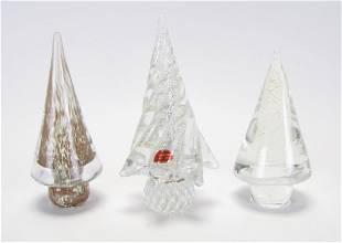 Three Murano Glass Trees
