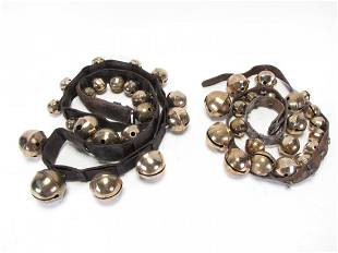 Two Sets of Antique Brass Sleigh Bells