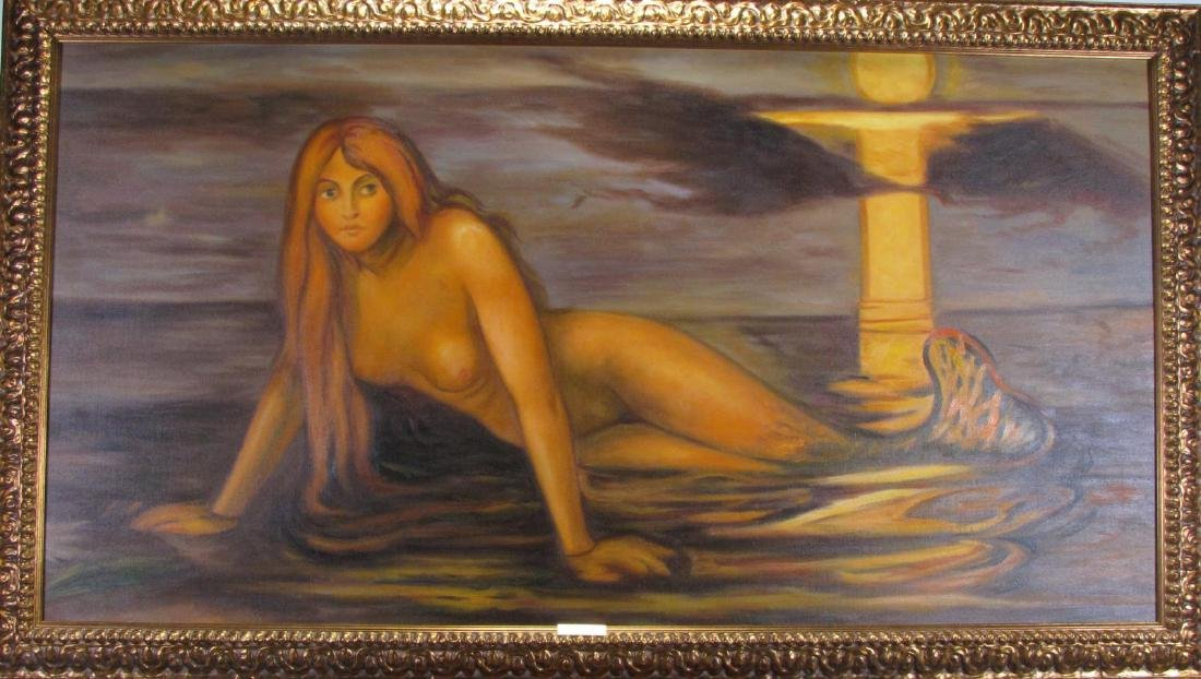 """Giclee, After Edvard Munch, """"Lady by the Sea"""""""