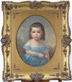 Unsigned Antique 22x17 oval O/B Folk Art Portrait