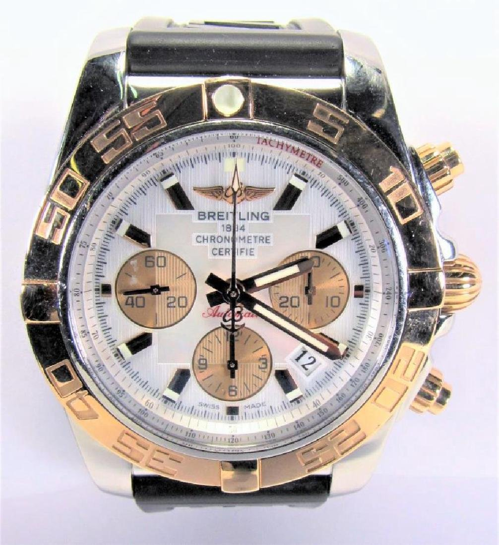 Gents 18K/Stainless Breitling Chronomat 44 Watch