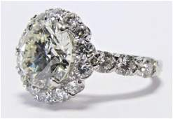 18K WG Christopher Designs 3CT Diamond Ring