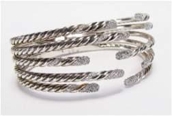 David Yurman Diamond FiveRow Willow Bracelet