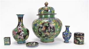Group of Oriental Cloisonne Decorative Accessories