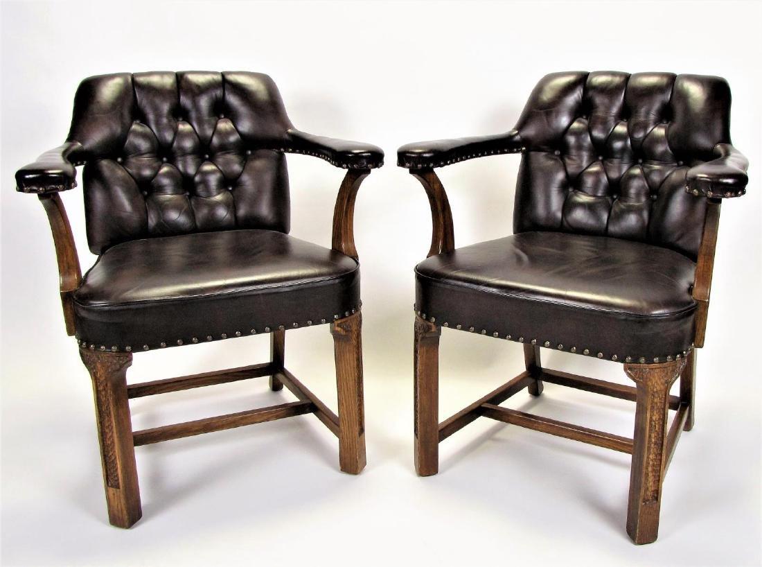 Pair of Romweber Viking Oak Side Chairs
