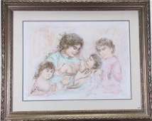 Edna Hibel Lithograph Marilyn and Children