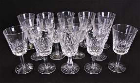 Set of Waterford Crystal Lismore Water Goblets