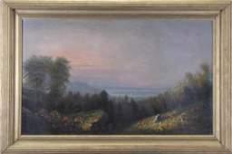 Manner of G.H. McCord 25x36 O/C Hudson River Valle