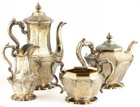 Silver Four Piece Coffee And Tea Set, John-george,1845
