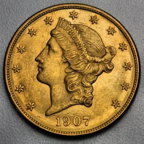 20 $ Liberty Gold Coin Double Eagle Pure Gold 30,09gr.