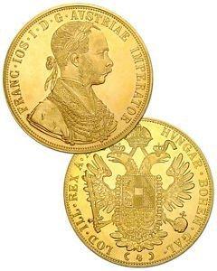 1915 Austria 4 Ducat 13,96 Gr. Pure Gold