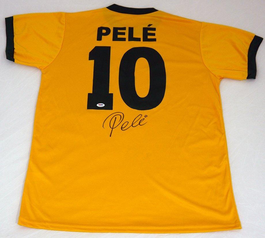 Pele Signed Brazilian Custom Jersey - POA