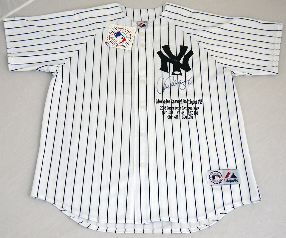 Alex Rodriguez Signed Majestic limited edition jersey
