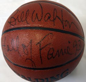 Bill Walton Signed Basketball 'hof' Coa