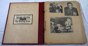 A Vintage Scrapbook Babe Ruth Of Babe Ruth