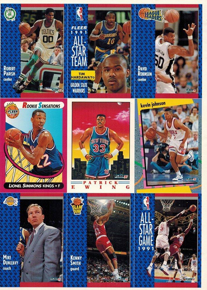 FLEER 1991 All Star Team - UNCUT