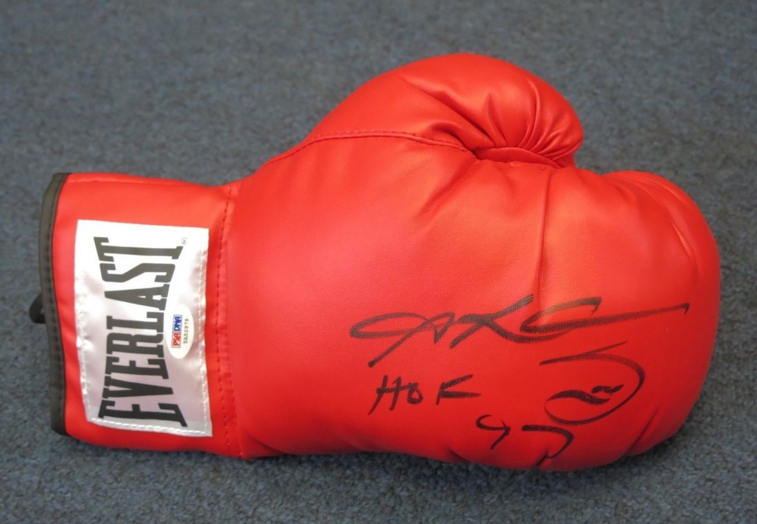 "Sugar Ray Leonard "" HOF 1997 \"" Signed Boxing Glove"