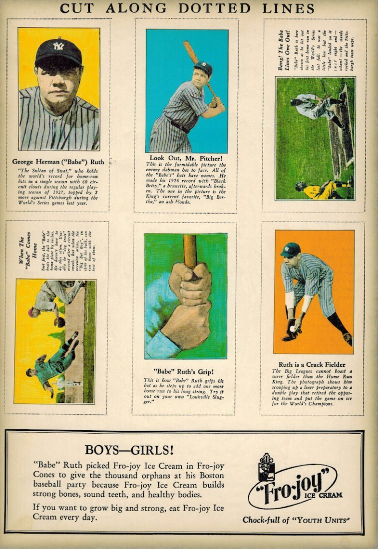 Babe Ruth baseball - 1st Edition in Color