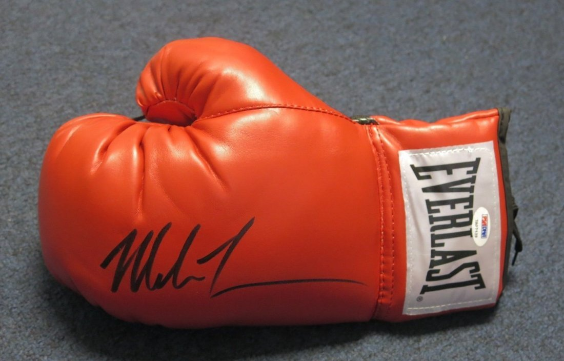Mike Tyson Signed Full Size Everlast Boxing Glove AUTO