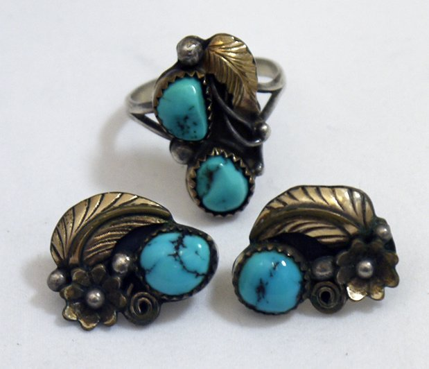 Virginia C Sterling Silver Earrings and Ring