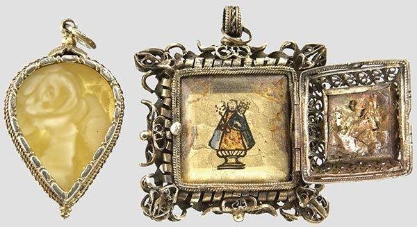 2016: Two amulet pendants
