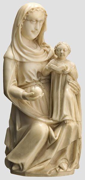 2021: A Gothic ivor y Madonna with child