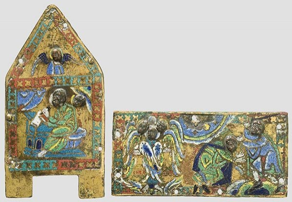 2005: Fragments of an enamelled French gabled casket