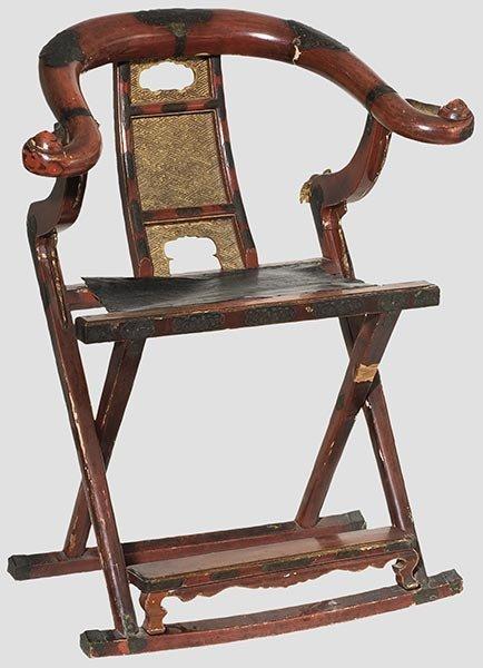 Marvelous 2096 A Japanese Folding Chair Kyokuroku Onthecornerstone Fun Painted Chair Ideas Images Onthecornerstoneorg