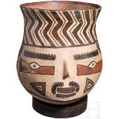 A Nazca head vessel Peru 200 BC to AD 600