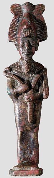 8: Ägyptische Statuette des Osiris,