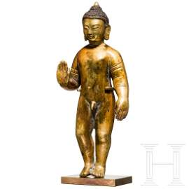 An xtraordinary probably Indian standing Buddha,