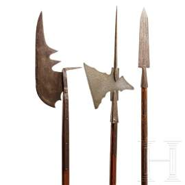 Three German polearms, 19th/20th century