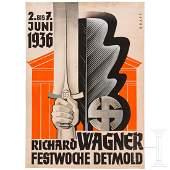 Hans Kraft - a poster draft for the Richard Wagner Week