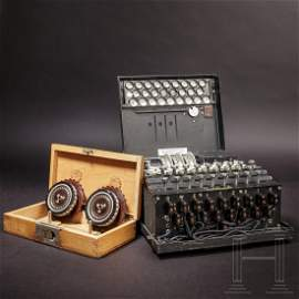 "An ""Enigma I"" cipher machine, number ""A 01093"""