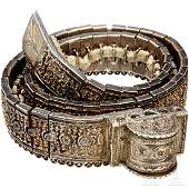 A silver Caucasian jewelry belt 2nd half of the 19th