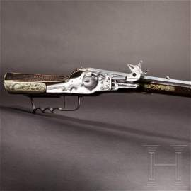 A military wheel-lock rifle by Balthasar Dressler in