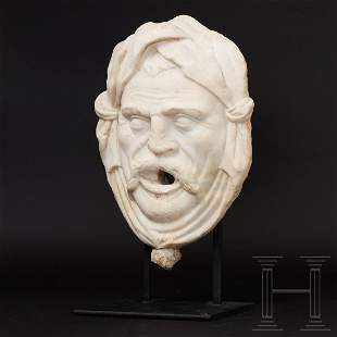 An Italian fountain mask in marble, 16th/17th century