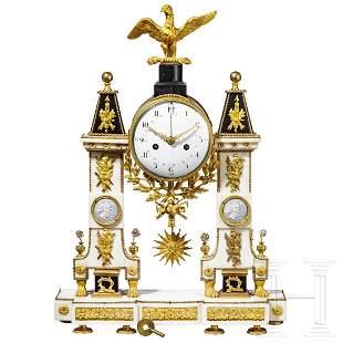 A marble Viennese(?) mantelpiece clock, circa 1820