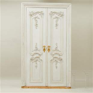 Two exquisite South German rococo doors from Bruchsal