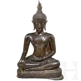 A Thai bronze Buddha, 19th century