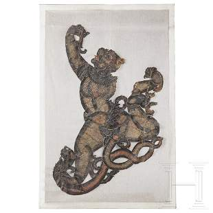 A large Thai Nang Luang figure of a demon, early 20th