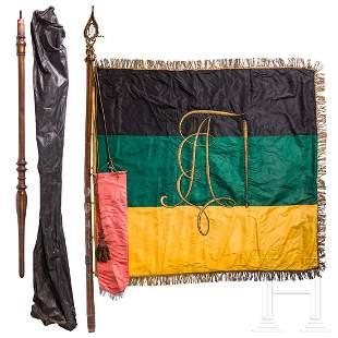 """Fahne der Burschenschaft """"Arminia"""" mit Fahnenband des"""
