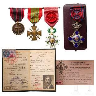 Commander Marie Joseph Joba - a collection of awards