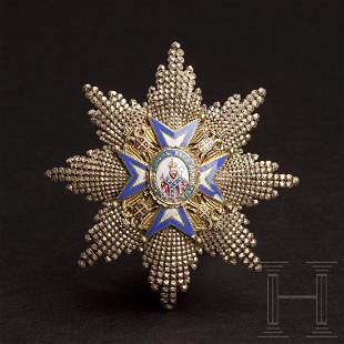 Serbia - St. Sava - Order of the Brilliant Breast Star
