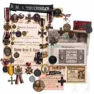 A large group of German awards, mainly World War I,