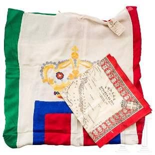 An Italian flag - Bandiera Savoia con Coronae