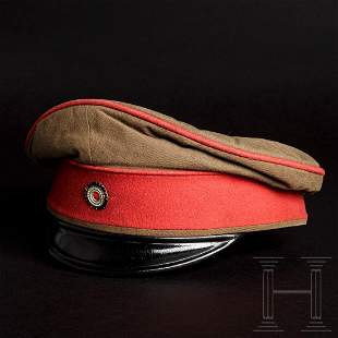 A visor cap for officers of the Protection Troop in